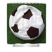 Soccer Ball Seat Cushion Shower Curtain