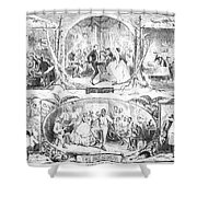 Social Activities, 1861 Shower Curtain by Granger
