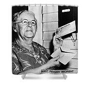 Social Security, 1940 Shower Curtain