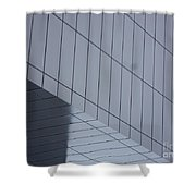 Soft Gray Glass Shower Curtain