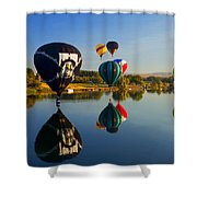 Soft Landings Shower Curtain by Mike  Dawson