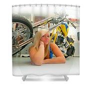 Soft N Sweet Harley Chopper  Shower Curtain