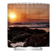 Solar Flare Shower Curtain