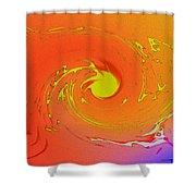Solar Flare Over Ocean Shower Curtain