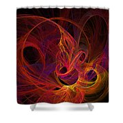 Solar Flares Shower Curtain