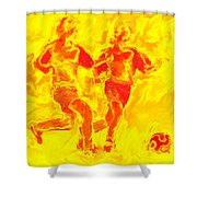 Solar Soccer Shower Curtain
