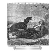 Soldier & Dog Shower Curtain