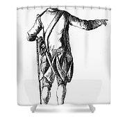 Soldier, 18th Century Shower Curtain