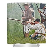 Soldier Fires Shower Curtain