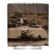 Soldier Looks Out The Main Hatch Shower Curtain