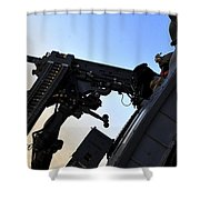 Soldier Mans The .50 Caliber Machine Shower Curtain