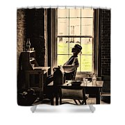Soldier Of Old Times Shower Curtain