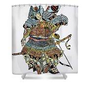 Soldier: Samurai Shower Curtain