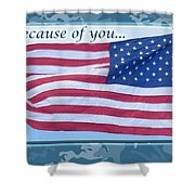 Soldier Veteran Thank You Shower Curtain