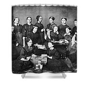 Soldiers Aid Society, 1863 Shower Curtain