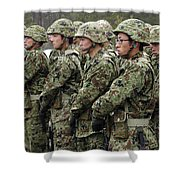 Soldiers From The Japan Ground Self Shower Curtain by Stocktrek Images
