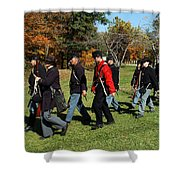 Soldiers March Color Shower Curtain