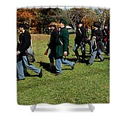 Soldiers March Two By Two Shower Curtain
