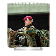 Soldiers Of A Belgian Recce Or Scout Shower Curtain