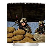 Soldiers Provide Security Shower Curtain