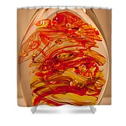 Solid Glass Sculpture Ef Fire Shower Curtain
