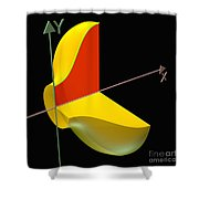Solid Of Revolution 1 Shower Curtain by Russell Kightley
