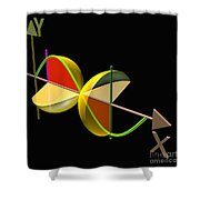Solid Of Revolution 5 Shower Curtain by Russell Kightley