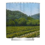 Solis Winery Shower Curtain