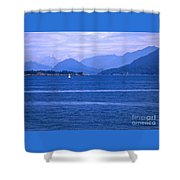 Solitary Sailing Shower Curtain