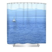 Solitary Sailing On Lake Tahoe Shower Curtain