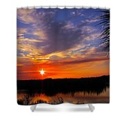 Solitary Sunset Shower Curtain
