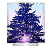 Solitary Trees Poster Shower Curtain