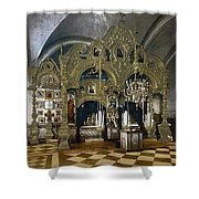 Solovetsky Monastery On The Kola Peninsula - Russa - Ca 1900 Shower Curtain