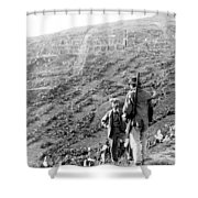 Soluntum Sicily - Old Roman Town Ruins - C 1906 Shower Curtain