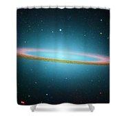 Sombrero Galaxy M104, Ir Image Shower Curtain