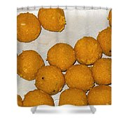 Some Indian Sweets Called A Ladoo In The Shape Of A Sphere Shower Curtain