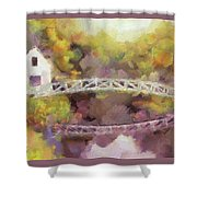 Somes Bridge - Somesville Maine Shower Curtain