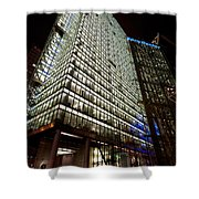 Sony Center At Night Shower Curtain