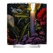 Soothing Candle Light Shower Curtain