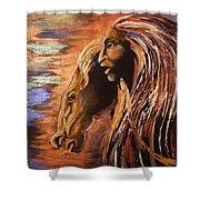 Soul Of Wild Horse Shower Curtain