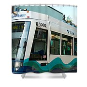Sounder Train Shower Curtain