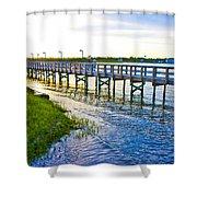 Soundside Park Surf City Shower Curtain