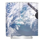 South Atlantic Plankton Bloom Shower Curtain