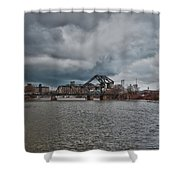 South Buffalo Rail Bridge Shower Curtain