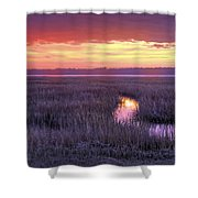 South Carolina Tidal Marshes Shower Curtain