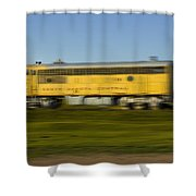 South Dakota Central Train Shower Curtain
