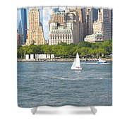South Ferry Water Ride4 Shower Curtain