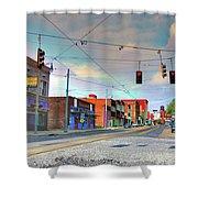 South Main Street Memphis Shower Curtain