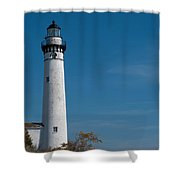 South Manitou Island Lighthouse Shower Curtain