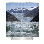 South Sawyer Glacier And Bay Full Shower Curtain